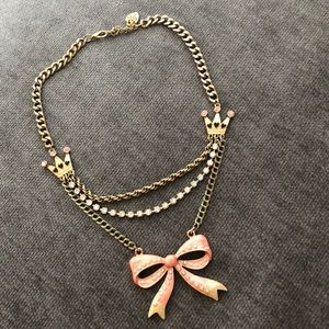 Betsey Johnson bow necklace.